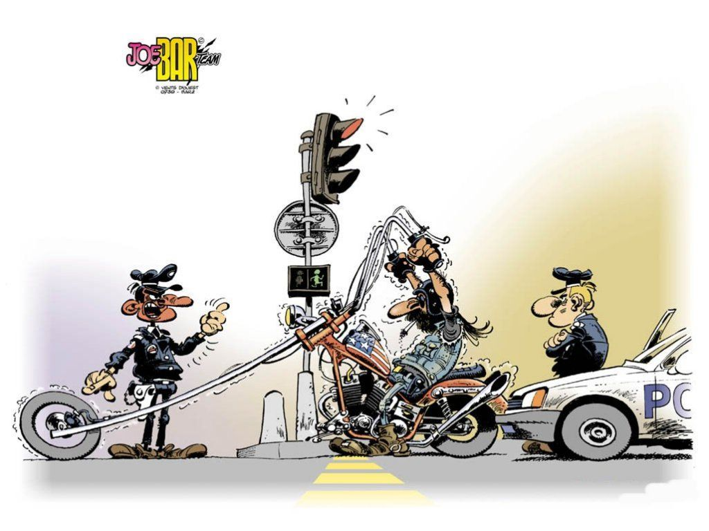 Joe bar team - Dessin humoristique motard ...
